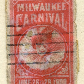 1900 Milwaukee Carnival Stamp - Stamps