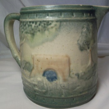 green pitcher - Pottery
