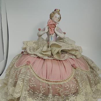 German Half Doll Music Box - Dolls