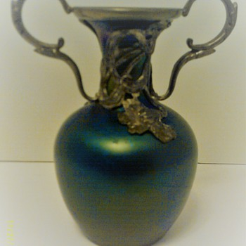 Art Nouveau Glass Vase  - Art Glass