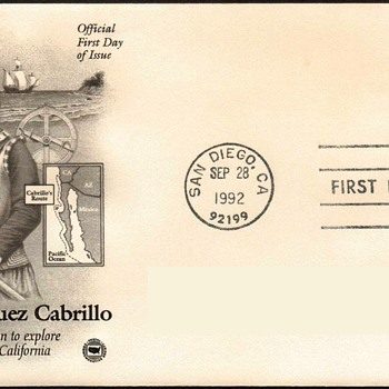 "1992 - ""Juan Cabrillo"" Stamp First Day Cover - Stamps"