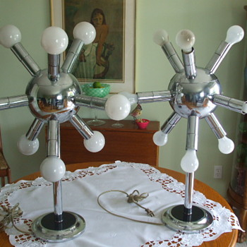 "Out Of This World ""SPUTNIK""- RETRO-50's  CHROME TABLE LAMPS - Lamps"