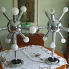 "Out Of This World ""SPUTNIK""- RETRO-50's  CHROME TABLE LAMPS"