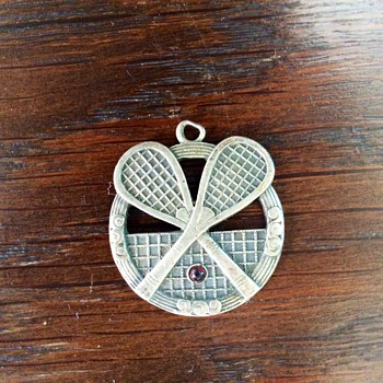Silver tennis pendant