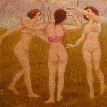 Three Graces Painting By J. Marzo - Fine Art