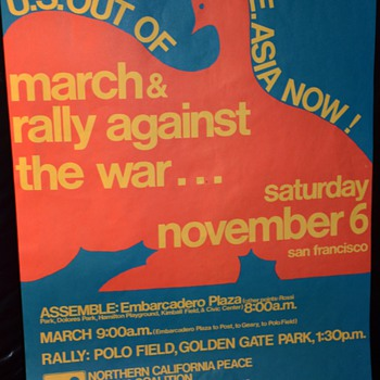 U.S. Out of S.E. Asia Now! 1974 rally poster