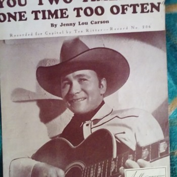 AMAZING FACT I DIDN'T KNOW ABOUT TEX RITTER!  SHEET MUSIC 1945) - Music Memorabilia