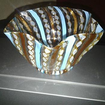 Murano Zanfrico Latticino Venetian . - Art Glass