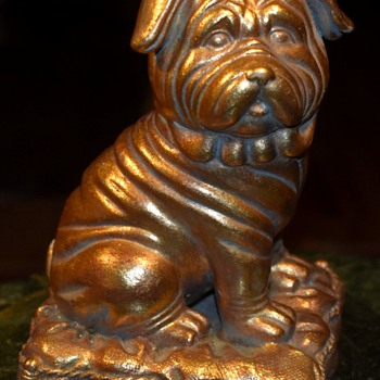 Gilded Sharpei Figurine - Animals