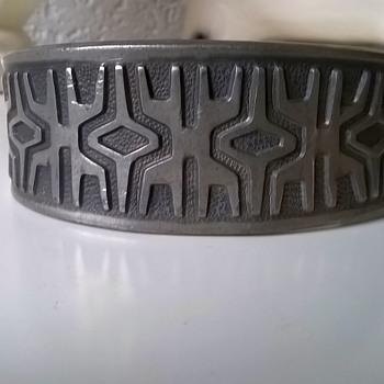 Vintage Brodrene Mylius Mid-Century Modernist Pewter Cuff Bracelet Thrift Shop Find $2.50 - Mid-Century Modern