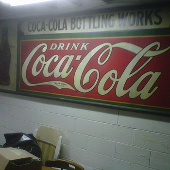 large tin coca-cola sign American Art Works