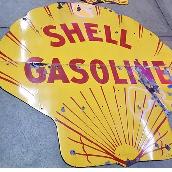 6' Shell Porcelain Gas Sign - Signs