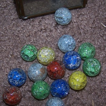 "I'm ""finding"" my marbles - Art Glass"