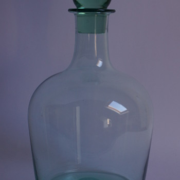 Whitefriars Emerald Green Decanter - Art Glass