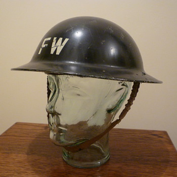 British WWII Fire Watchers steel helmet 1940