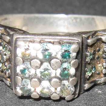 Vintage Old Diamond Silver Ring, How Old Is This ?  Is It Rare ? - Fine Jewelry