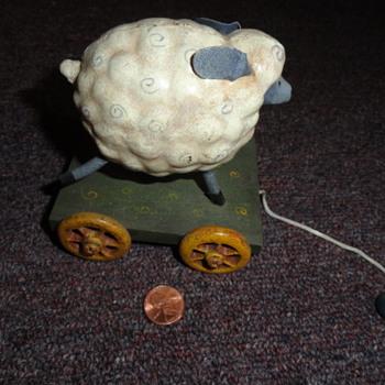 iron pull along sheep ( need info )