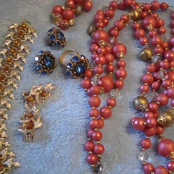 Judy Lee demi parures - Costume Jewelry