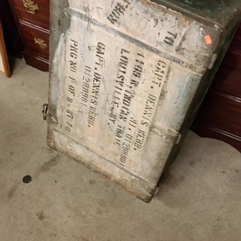 Old Military Foot Locker - Furniture