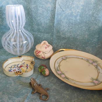 More Finds From The First And Second Of August, At The Flea Market Pottery Glass And Brass! :^D - Pottery