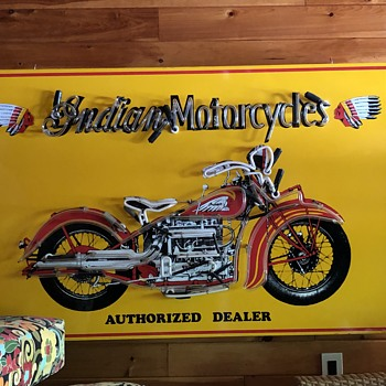 Vintage Indian Motorcycles Neon Sign - Motorcycles