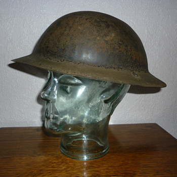 British WWI rimless steel helmet, issued early WWII