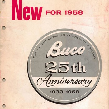 1958 - Buco (Buegeleisen Co.) Motorcycle Accessories Catalog
