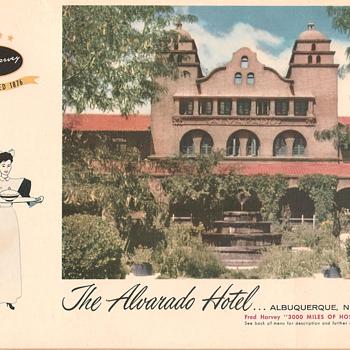 Harvey House Menus 1957 (part #1) - Paper