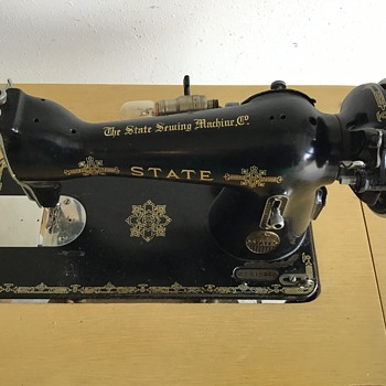 The State Sewing Machine Co. sewing machine. - Sewing