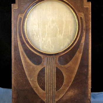 Secessionist Style Tooled Leather Photo Frame - Art Nouveau