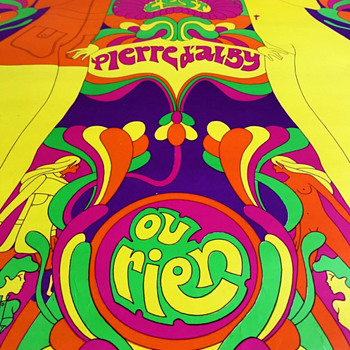 "Fantastic 1967 French Psychedelic Poster Advertising ""C'est PIERRE D'ALBY Ou Rien"" - Posters and Prints"