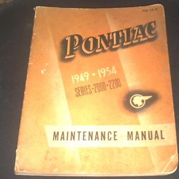 1949-1954 Pontiac Maintenance Manual - Classic Cars