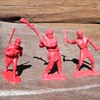 Auburn Rubber Indian Pioneer and Mexican Soldier 70mm 1950s