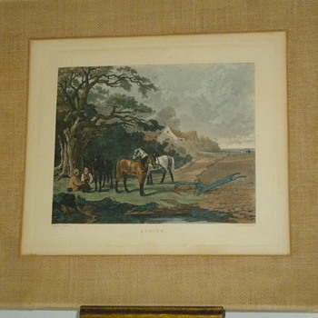 Antique Hand Colored Etchings - Fine Art