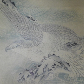 Falcon or Eagle Drawing Turns Out to be A Tapestry.   Your feedback welcome - Animals