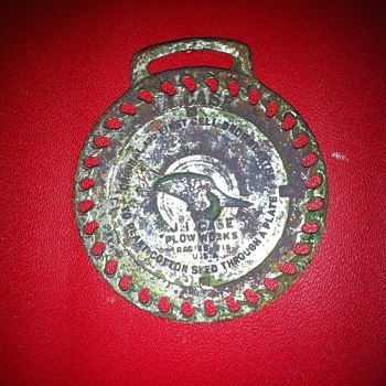 J. I. Case Plow Works watch fob  - Pocket Watches