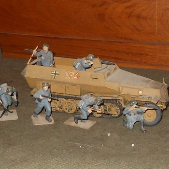 German Hanomag Half-Track Model by Tamiya 1/35th Scale - Military and Wartime