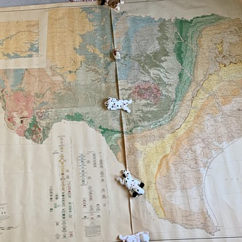 Geologic Map of Texas Dated 1937 LARGE  - Paper