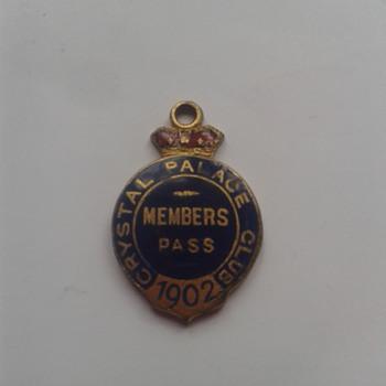 Crystal Palace Club Members Badge/Tag? - Medals Pins and Badges