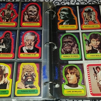 1977 star wars cards complete set w stickers mint - Movies