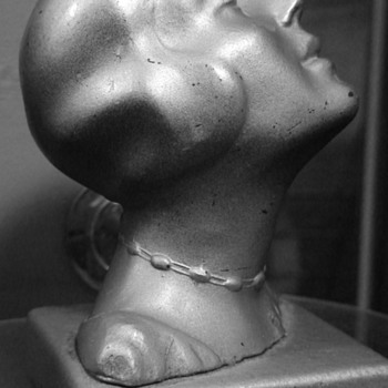 Flapper Head Bookend Unknown Maker Please See Mark...Help!