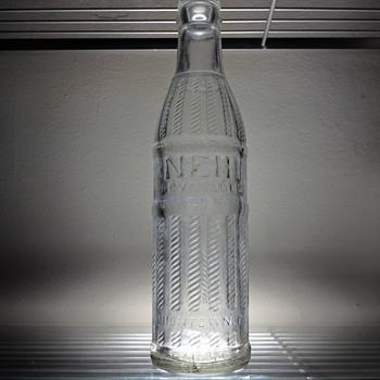 1960 Nehi Soda Bottle Uniontown Pennsylvania Owens-Illinois Duraglas Vintage Clear Embossed 7 Ounces - Bottles