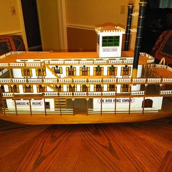 A paddlewheel boal hand crafted in the early 1930s - Toys