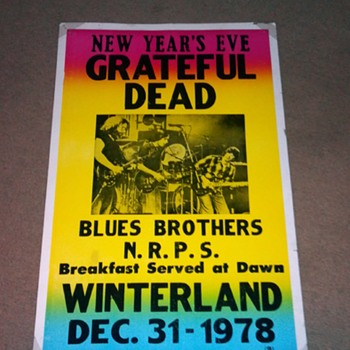 Grateful Dead/ Blues Brothers winterland 12/31/78 poster