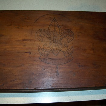 1950`s Boy Scout storage box--and a couple of personal scout pics - Sporting Goods