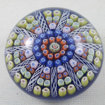 Millefiori design paperweight - Art Glass