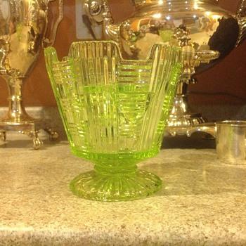 Uranium glass I.D.  - Art Deco