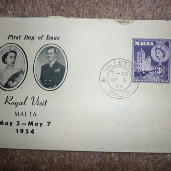 Rare Maltese First Day Cover 1954