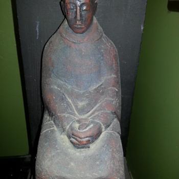 monk  statue  - Asian