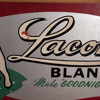 Hand painted Laconia blankets sign - Rugs and Textiles